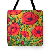 Tuscan Poppies - Crop 2 Tote Bag