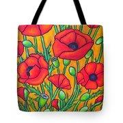 Tuscan Poppies - Crop 2 Tote Bag
