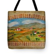 Tuscan Scene Brick Window Tote Bag