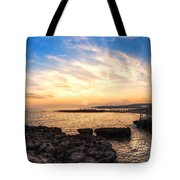 Tuscan Sunset On The Sea In Italy Tote Bag