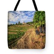 Tuscan Vineyard And Grapes Tote Bag