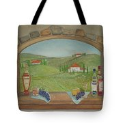 Tuscan Window View Tote Bag
