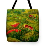 Tuscany At Dawn Tote Bag