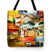 Tuscany Collage Tote Bag