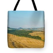 Tuscany Landscape With Rolling Hills At Sunset, Val D'orcia, Ita Tote Bag