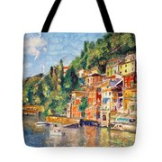 Tuscany On The Lake Tote Bag