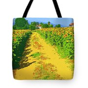 Tuscany Sunflowers Tote Bag