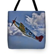 Tuskegee Mustang Red Tail Tote Bag