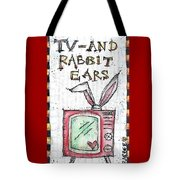 Tv And Rabbit Ears Tote Bag