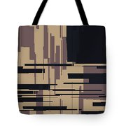 Tv Off Abstract Tote Bag