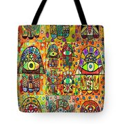 Twelve Hamsas Tote Bag