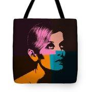 Twiggy Pop Art 2 Tote Bag