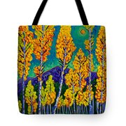 Twilight Aspens Tote Bag