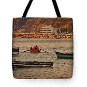 Twilight At The Beach, Miraflores, Peru Tote Bag