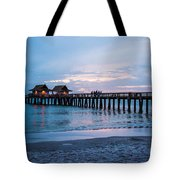 Twilight At The Pier Tote Bag