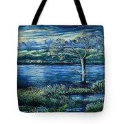 Twilight At The River Tote Bag