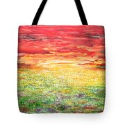 Twilight Bounds Softly Forth On The Wildflowers Tote Bag