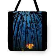 Twilight Camping Tote Bag