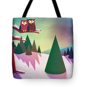 Twilight In The Woods Tote Bag