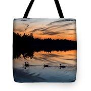Twilight Lake Swim New Jersey Tote Bag