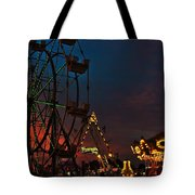 Twilight On The Midway  Tote Bag