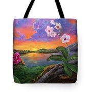 Twilight Orchids Tote Bag