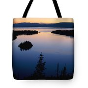 Twilight Over Emerald Bay Tote Bag