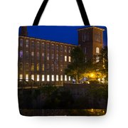 Twilight Over The Cocheco Mills Dover New Hampshire Tote Bag