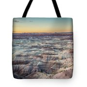 Twilight Over The Painted Desert Tote Bag