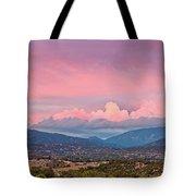 Twilight Panorama Of Sangre De Cristo Mountains And Santa Fe - New Mexico Land Of Enchantment Tote Bag