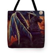 Twilight Storm Dragon Tote Bag