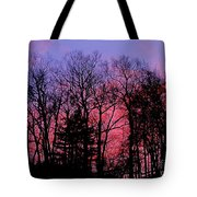 Twilight Trees Tote Bag