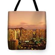 Twilight Waikiki Tote Bag
