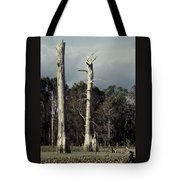 Twin Cypress Tote Bag