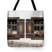 Twin Decorated Windows Tote Bag