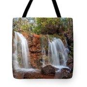 Twin Falls At Ironstone Gully Tote Bag