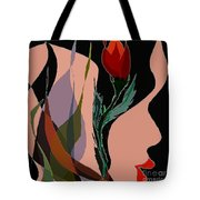 Twin Fire Flower Head 2 Tote Bag by Navo Art