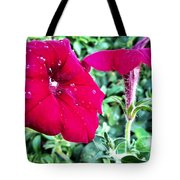 Twin Flower Power Tote Bag