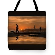 Twin Lakes Sunset Reflected Tote Bag