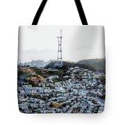 Twin Peaks In San Francisco Aerial Photo Tote Bag