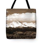 Twin Peaks In Sepia  Tote Bag
