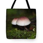 Twin Peaks - Pink And White Mushroom Duo Tote Bag