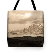 Twin Peaks Sepia Panorama Tote Bag