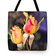Twin Roses Of Love Tote Bag
