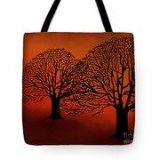 Twin Trees Tote Bag