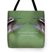 Twins Card - Hummingbirds Tote Bag