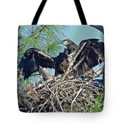 Twins Getting Ready  Tote Bag