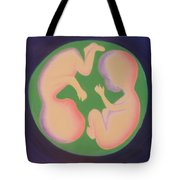 Twins In The Womb Tote Bag