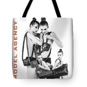 Twins Model Agency Tote Bag by ISAW Company