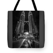 Twintowers At Night Tote Bag